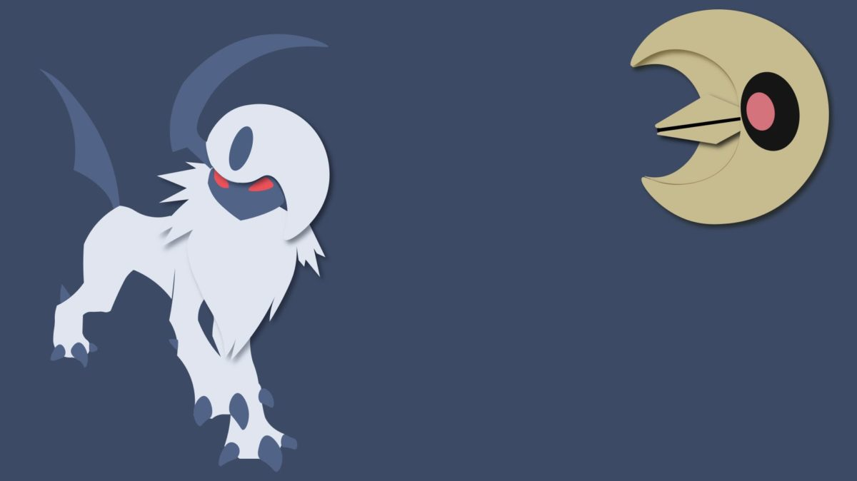 Absol Minimalist Background (1920×1080) | Top reddit wallpapers …