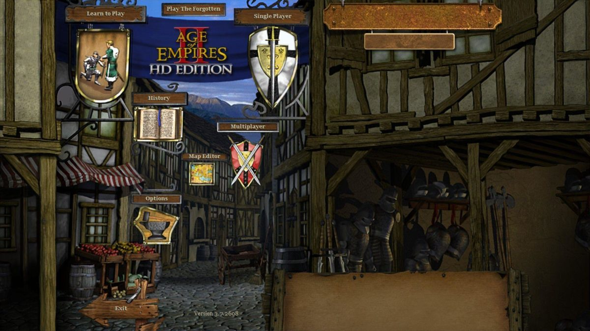 Age of Empires II HD Main Menu picture – ID: 4728