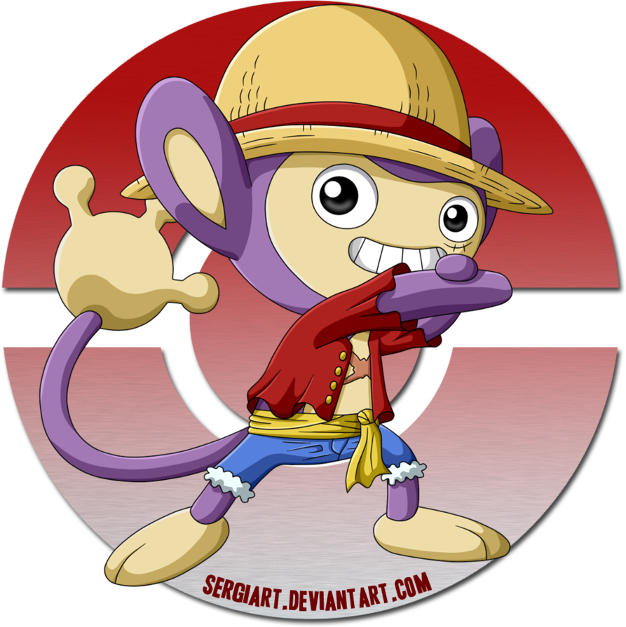 One Piece x Pokemon – Luffy x Aipom by SergiART on DeviantArt