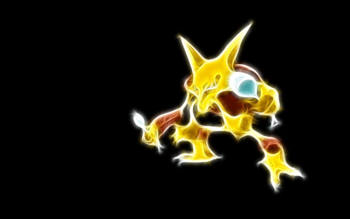 Pokemon Neon Alakazam HD Wallpaper – GamePhD