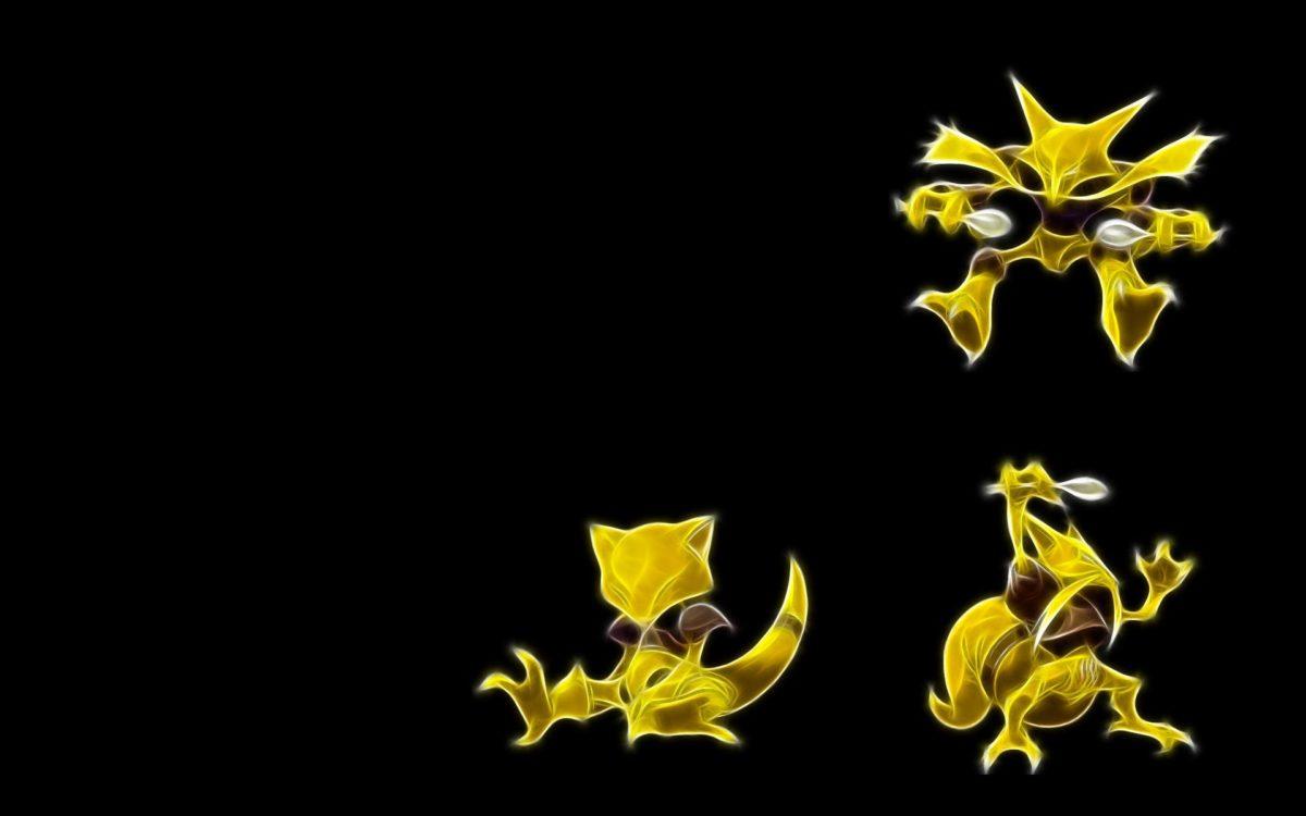 pokemon abra alakazam black background 1920×1200 wallpaper High …