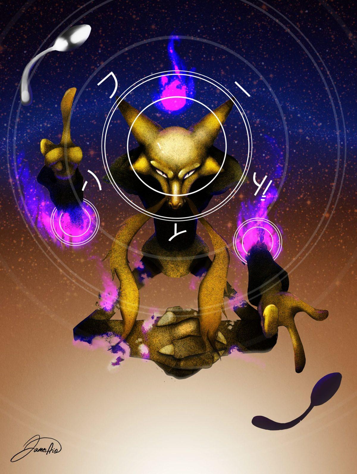 Alakazam OC artwork – Imgur