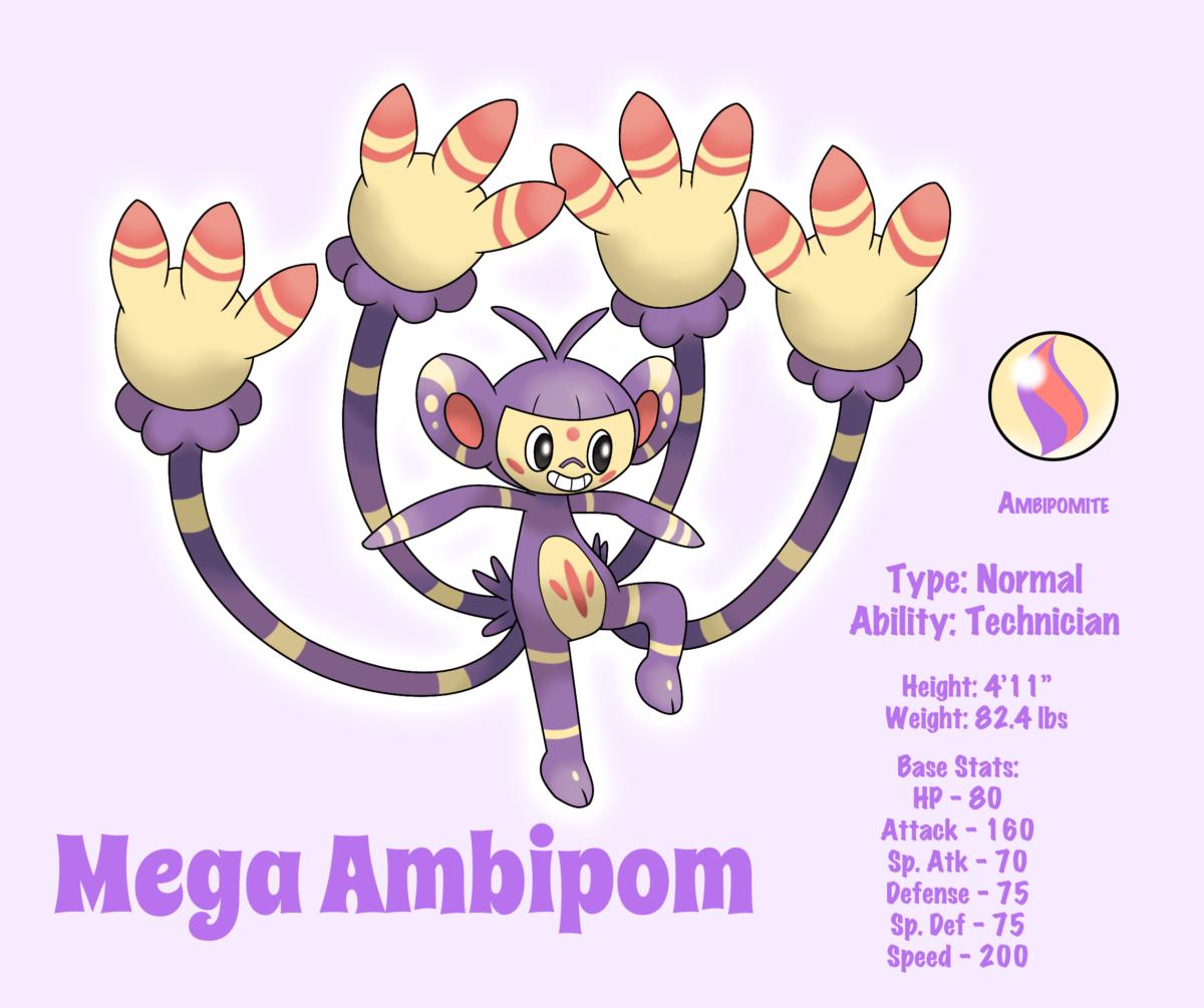 Mega Ambipom by LudiculousPegasus on DeviantArt