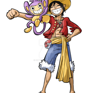 download Commissioned Sketch – Monkey D. Luffy with Aipom by seto on DeviantArt