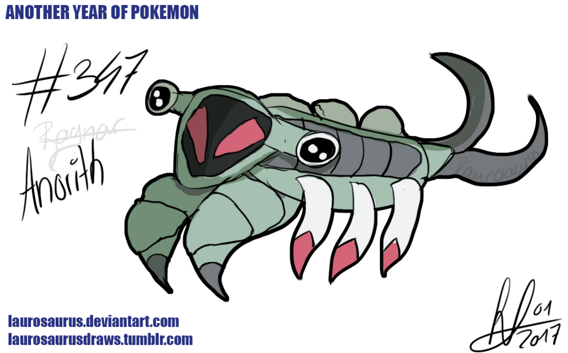 Another year of pokemon: #347 Anorith by Laurosaurus on DeviantArt