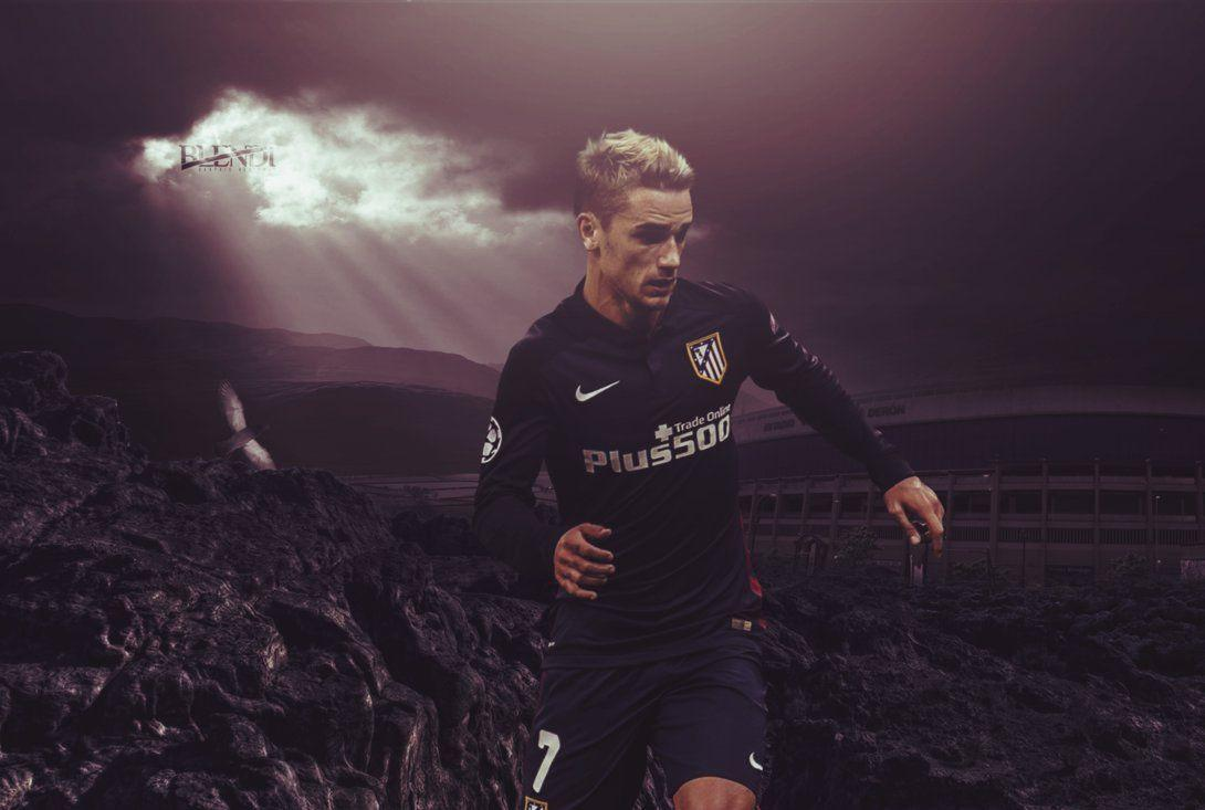 Antoine Griezmann // Wallpaper by blendigraphics on DeviantArt