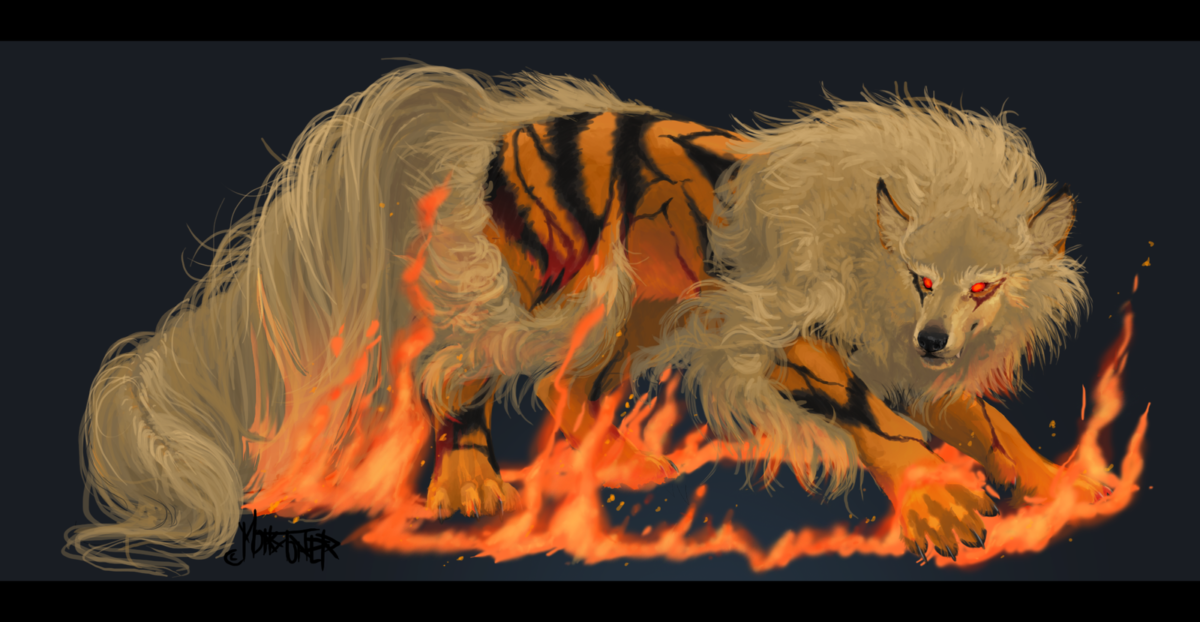 Arcanine Realist Art HD Wallpaper #4046 Wallpaper Themes …
