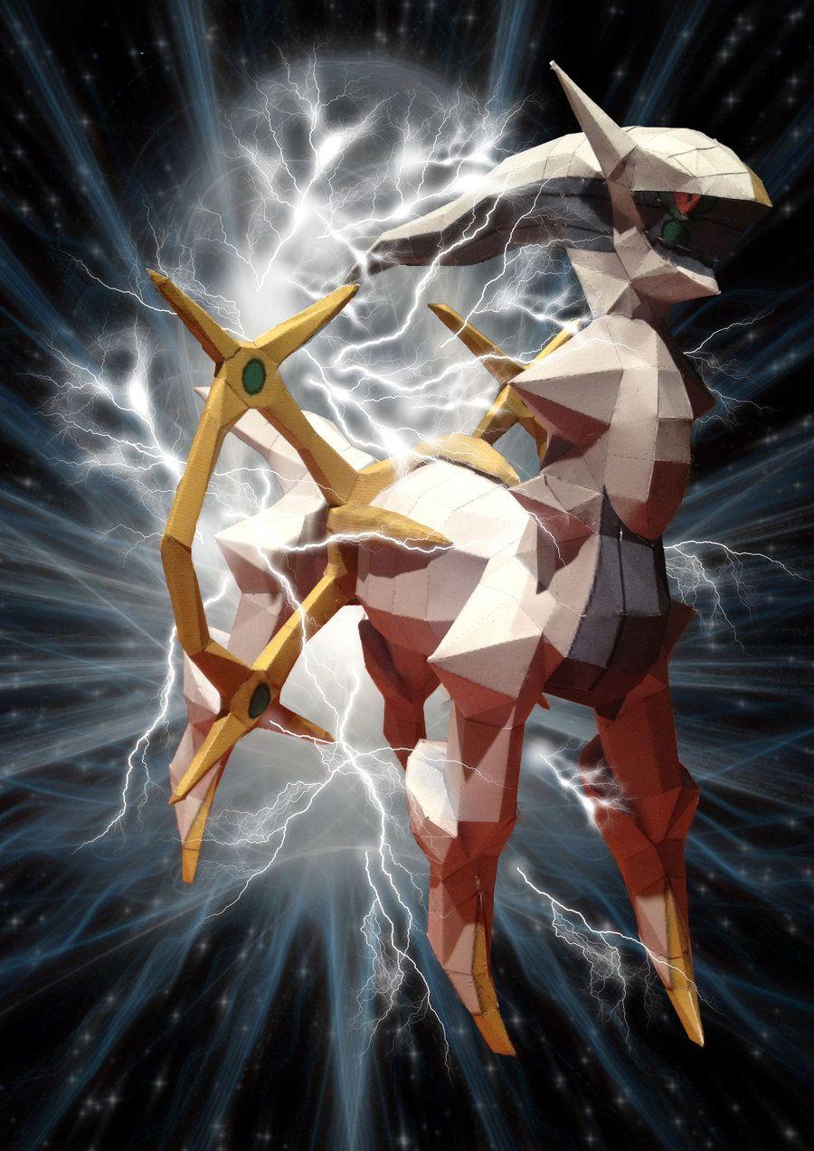 arceus paperkraft with background by magicalyuki on DeviantArt
