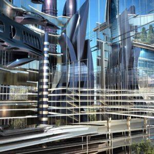 download Futuristic Architecture widescreen wallpaper | Wide-