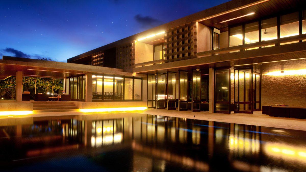 Dominican Republic, Cabrera, Casa Kimball, Nighttime Architecture …