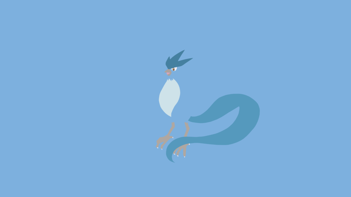 Minimalistic Wallpaper: Articuno (#144) by MardGeerT on DeviantArt