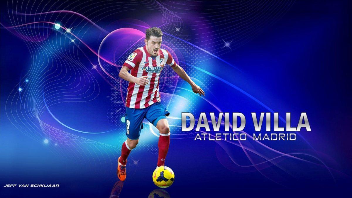 David Villa Atletico Madrid Wallpaper by jeffery10 on DeviantArt