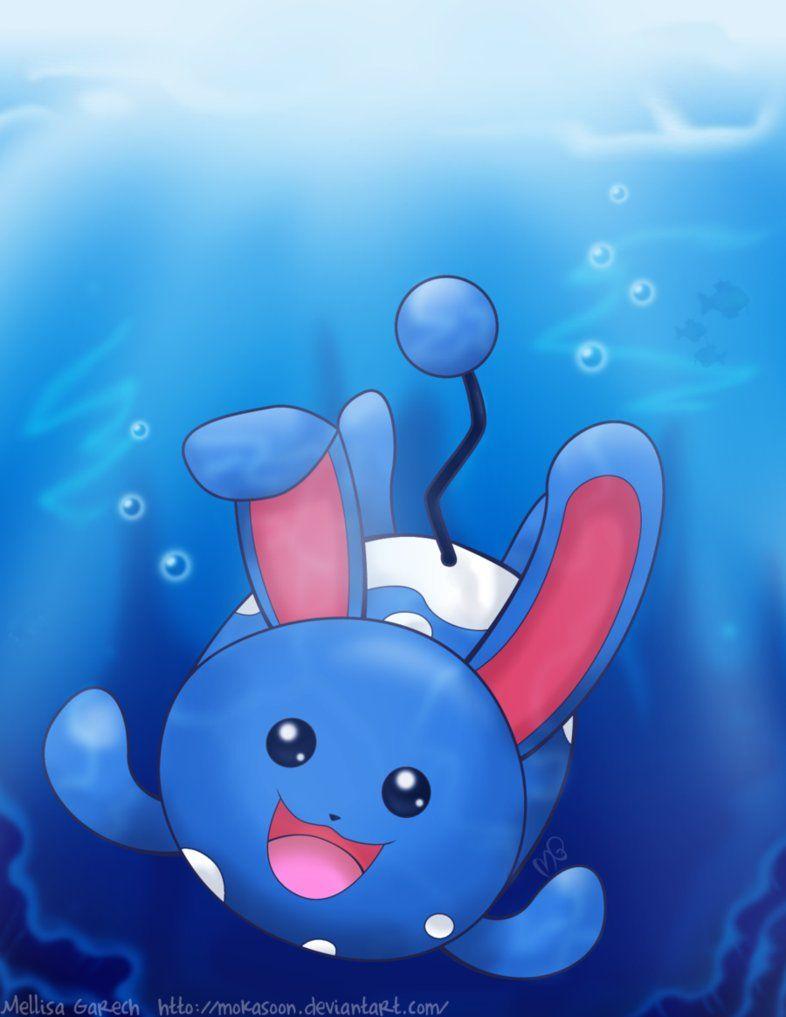 Underwater Azumarill by MokaSooN on DeviantArt