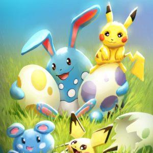 download pokemon, pikachu, easter, pichu, azumarill, azurill, eggs, babies …