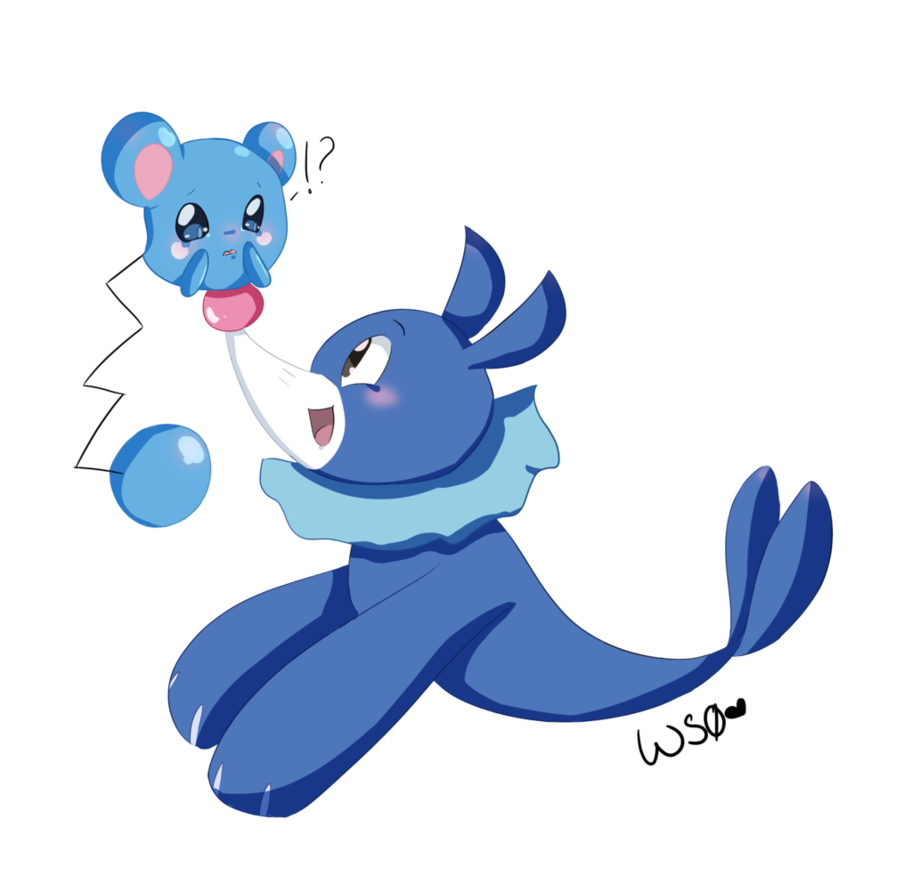 Azurill and Popplio by Whitestorm0 on DeviantArt