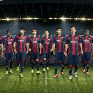 download FC Barcelona 2014-2015 New Nike Home Kit Wallpaper Wide or HD …