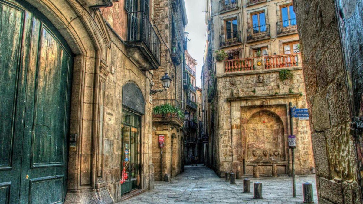 Other: Side Street Barcelona City Stones Doors Balconies Free …