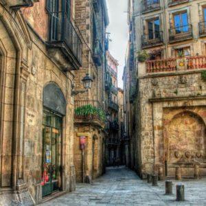 download Other: Side Street Barcelona City Stones Doors Balconies Free …
