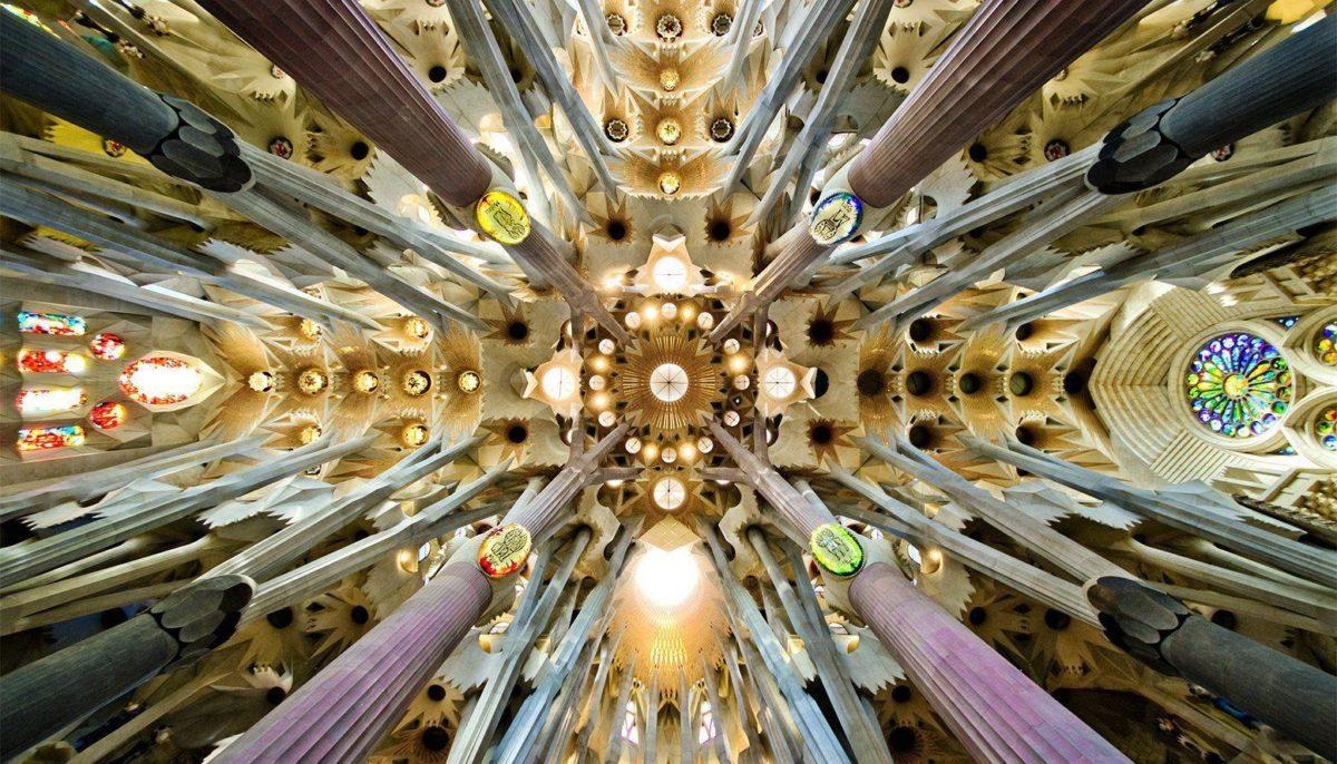 Z Wallpaper Barcelona La Sagrada Familia Ceiling Gaudi – 1555 x …