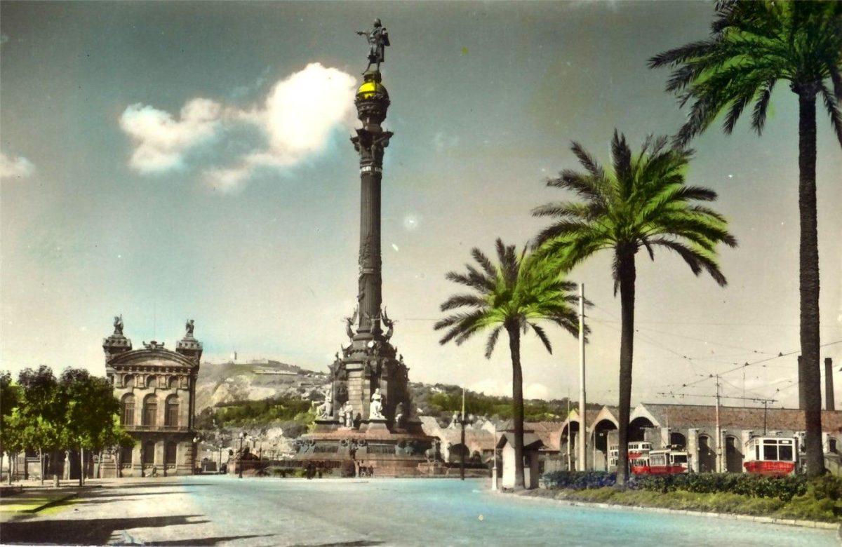 barcelona-monument postcard, barcelona-monument wallpaper …
