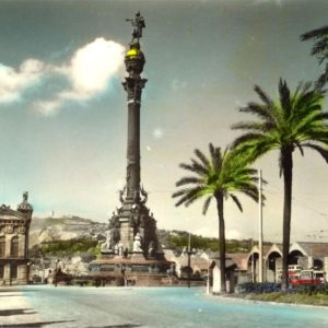 download barcelona-monument postcard, barcelona-monument wallpaper …