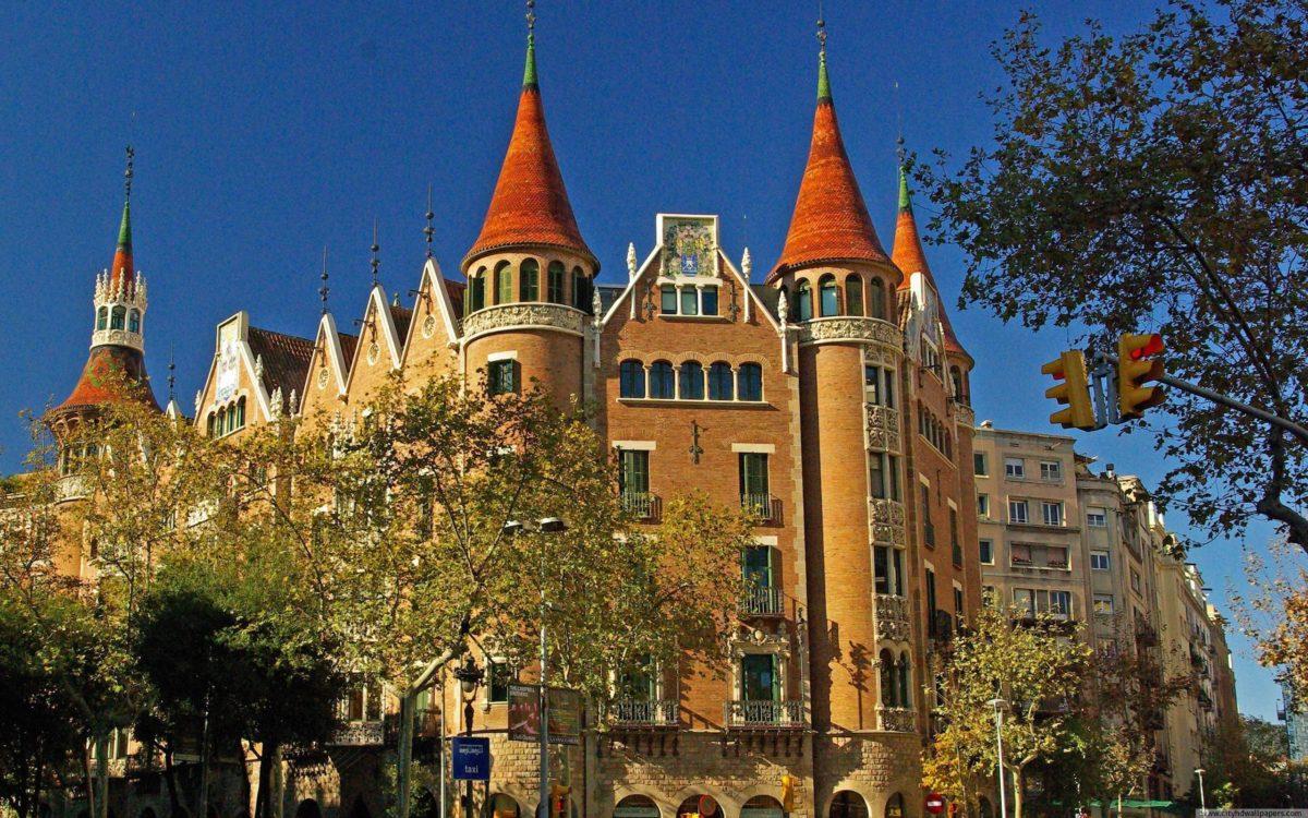 Beautiful building of Casa de las Punxes in Barcelona city | city …