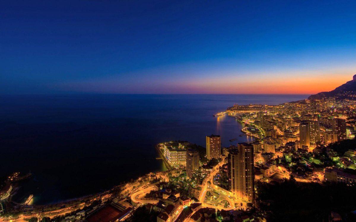 Beautiful Monaco City At Night Wallpaper Deskt #10727 Wallpaper …