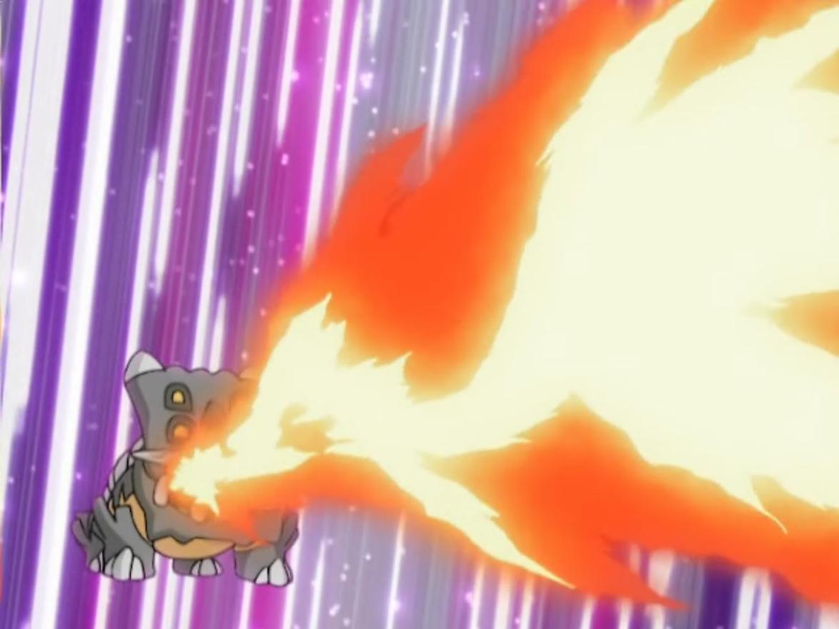 Image – Byron Bastiodon Flamethrower.png | Pokémon Wiki | FANDOM …