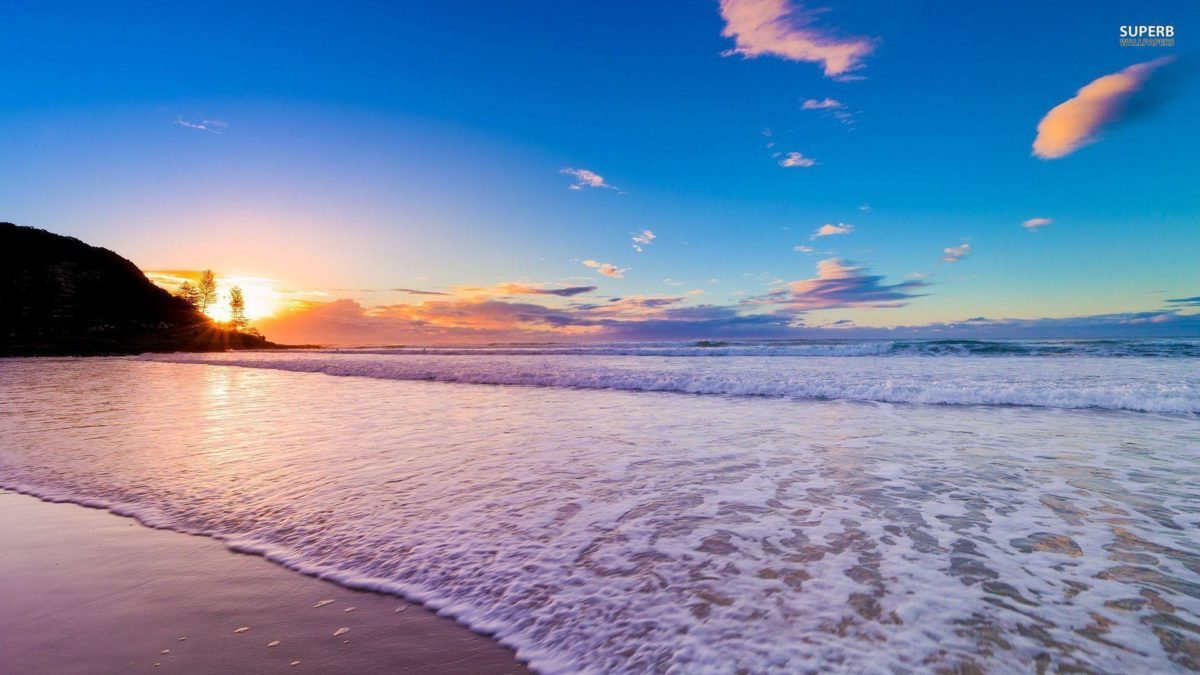 Sunset On The Beach Wallpaper #8861 | HD Backgrounds