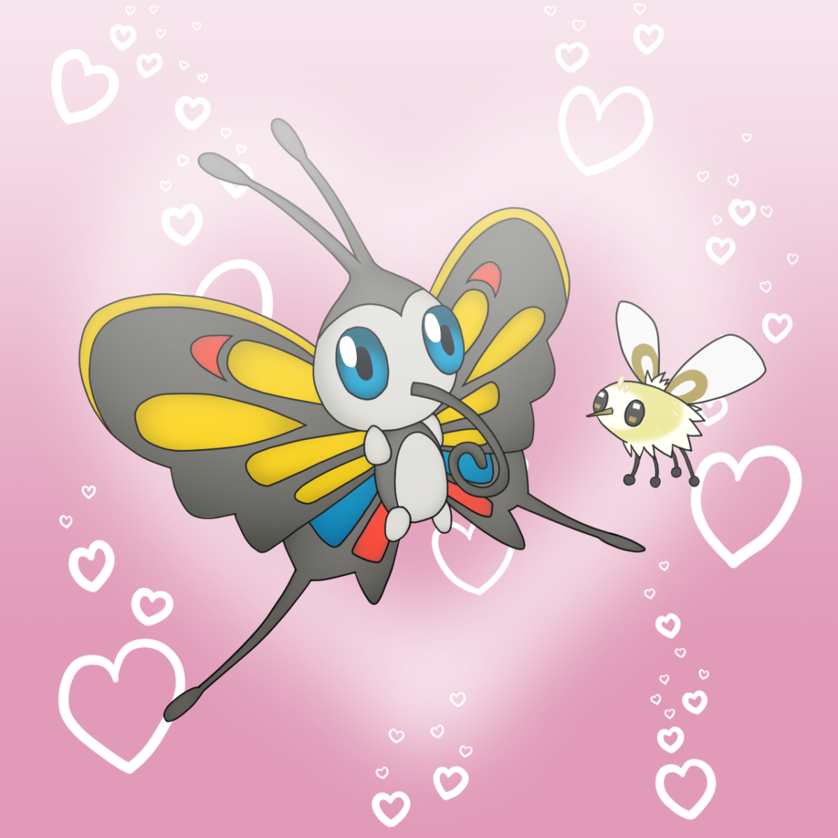 Beautifly and Cutiefly by CyaniDairySentinel on DeviantArt