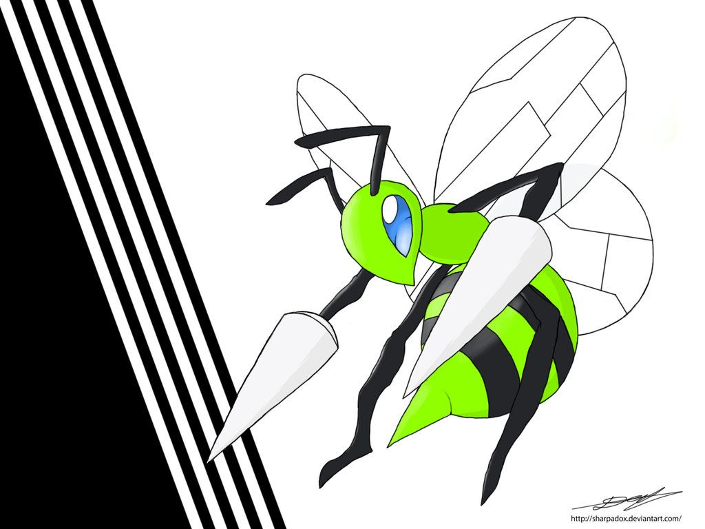 Shiny Beedrill by Sharpadox on DeviantArt