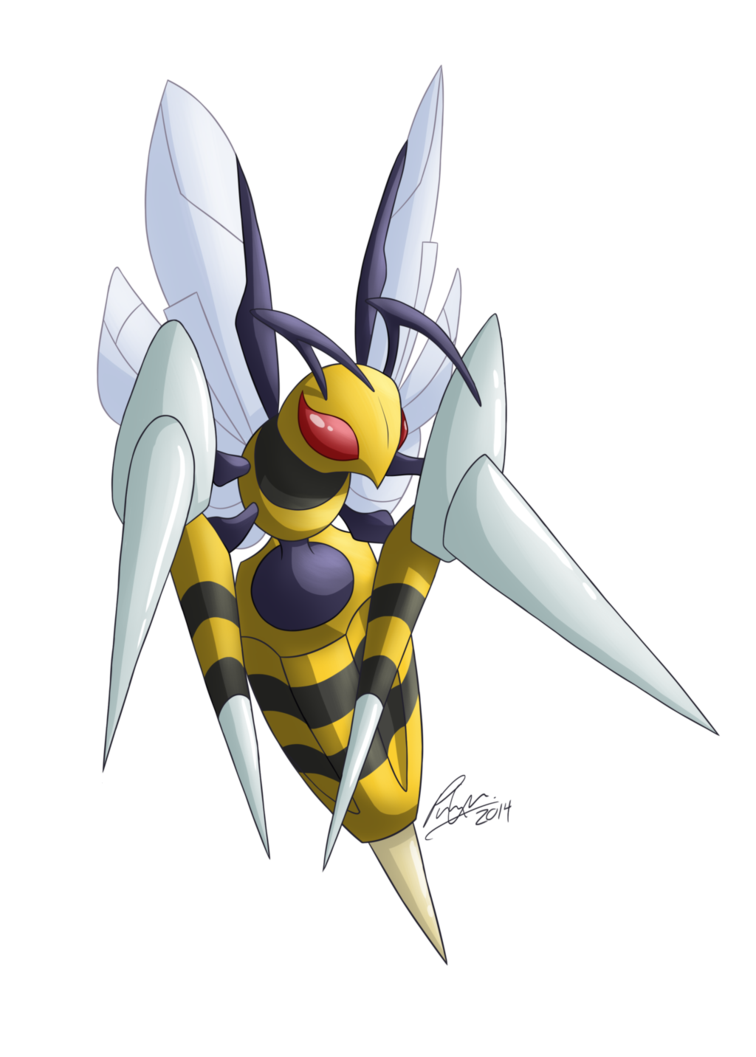 Mega Beedrill by Utahraptorz on DeviantArt