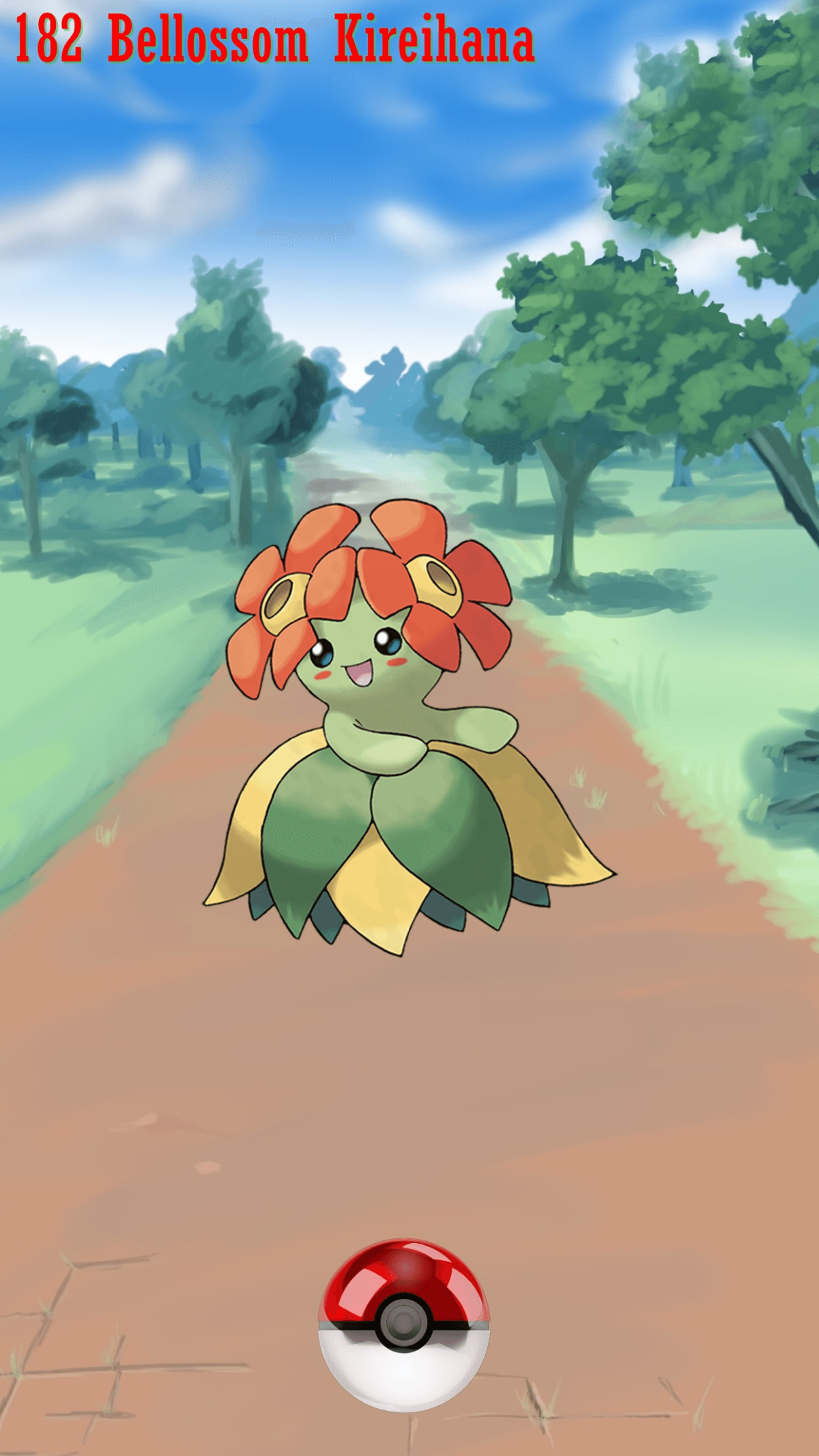 182 Street Pokeball Bellossom Kireihana | Wallpaper