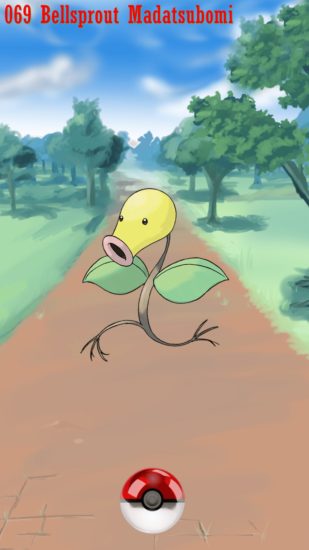 069 Street Pokeball Bellsprout Madatsubomi | Wallpaper