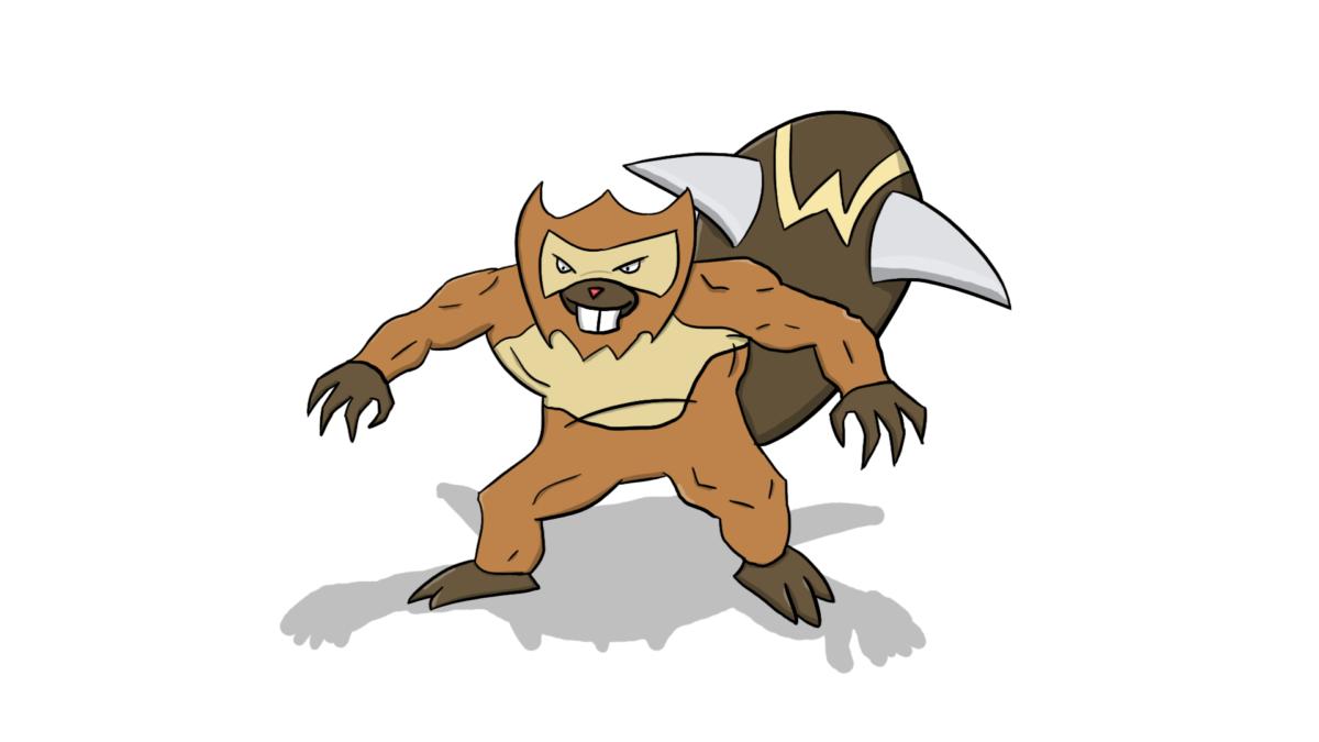 I drew a Mega Bibarel awhile back : pokemon