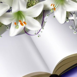 download Easter Lilies on Bible widescreen wallpaper | Wide-