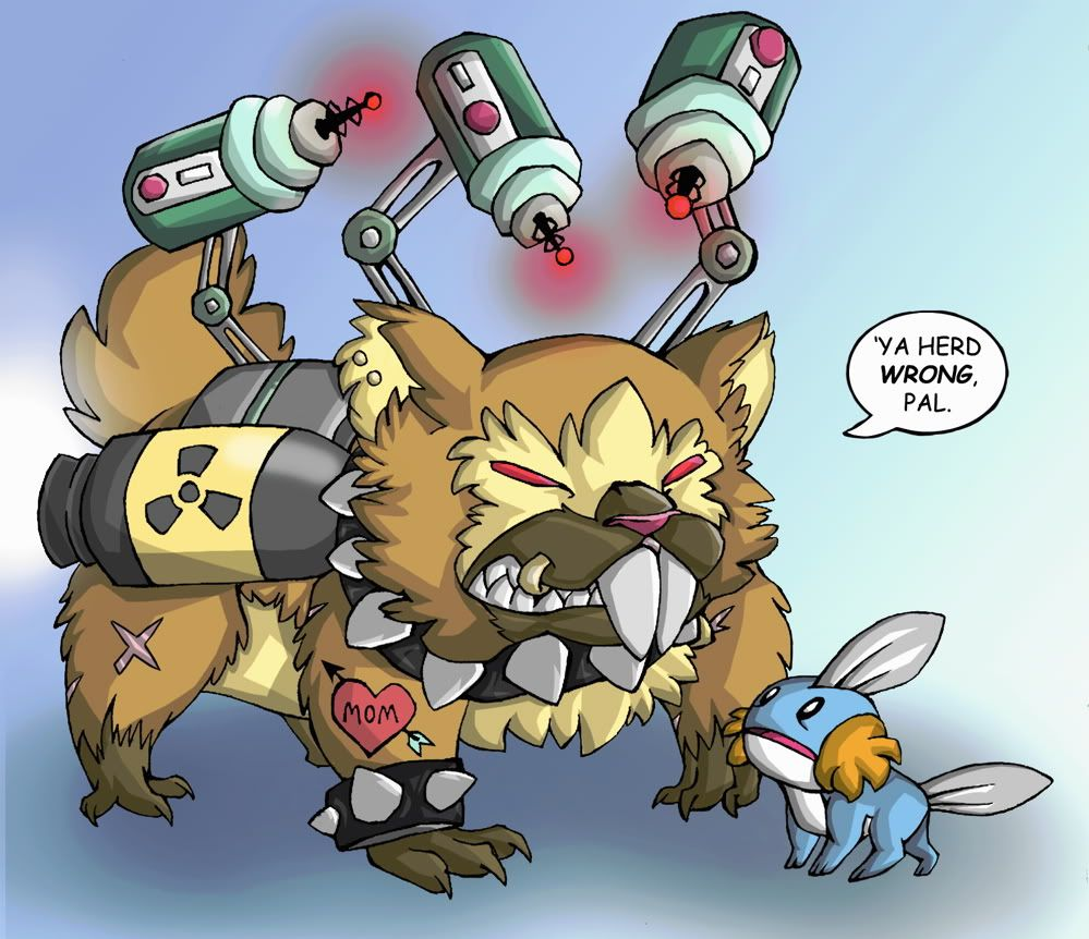 The Mudkip Corporation declares war on the Bidoof Federation …