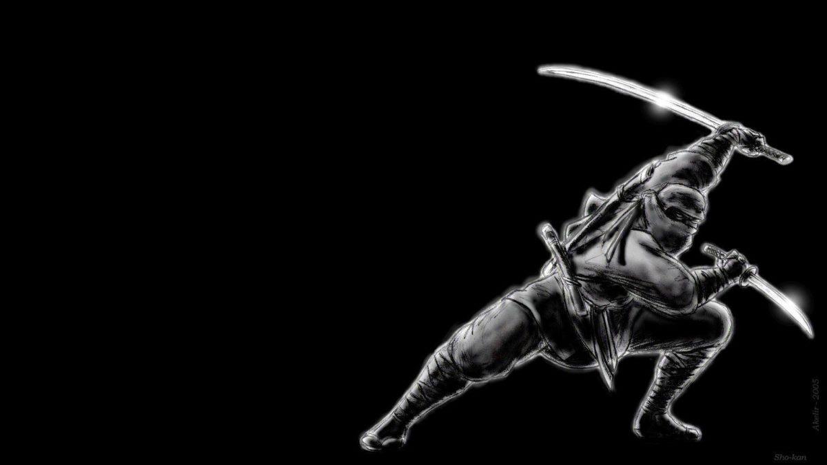 Art: Ninja Dark Wallpaper, dark wallpaper background, dark …