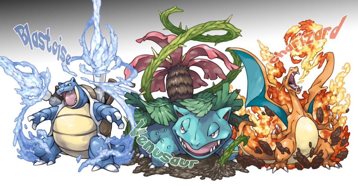 blastoise, charizard, and venusaur (pokemon) drawn by pearl7 …