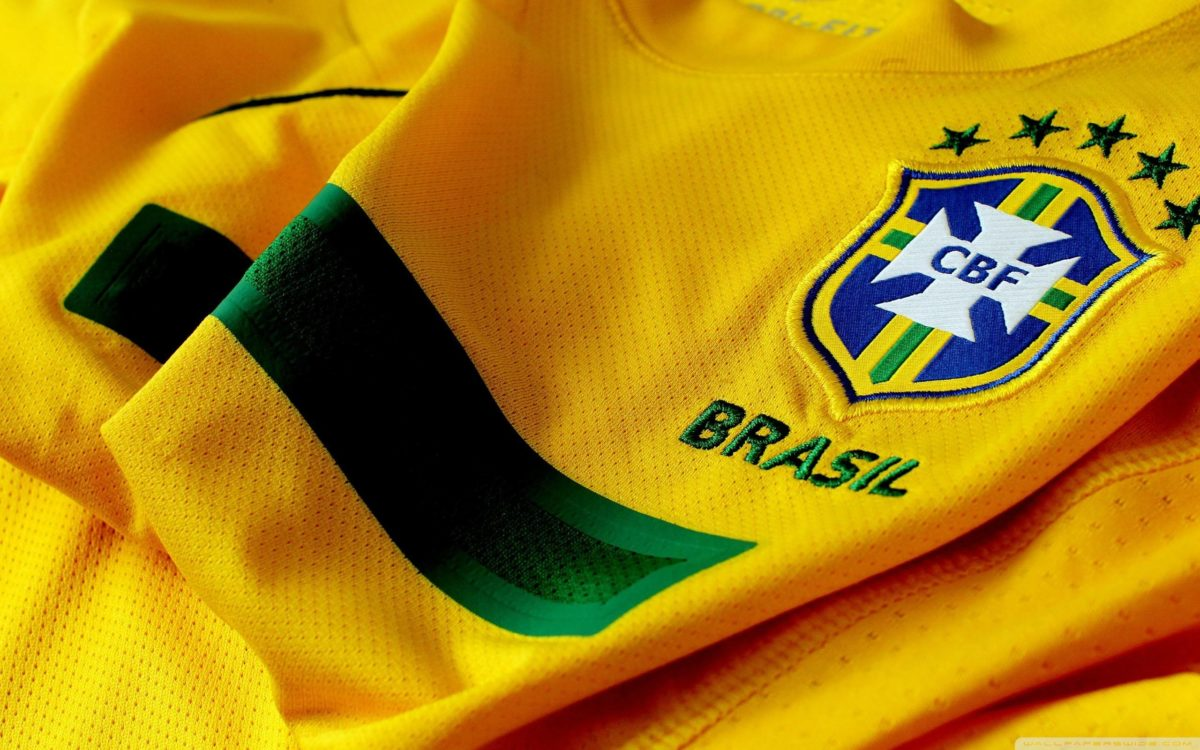 Brazil Soccer Shirt And Logo Wallpapers HD