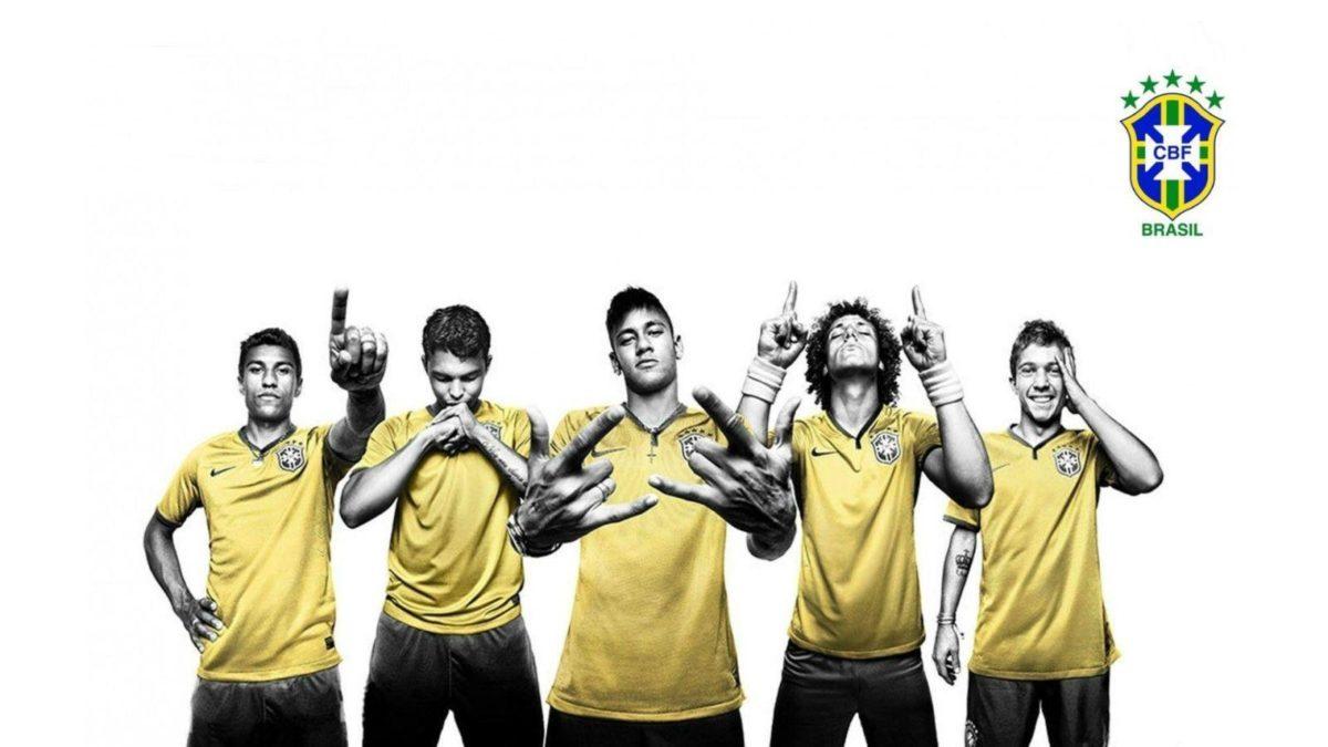 CBF, Brazil Soccer Players widescreen wallpaper | Wide-