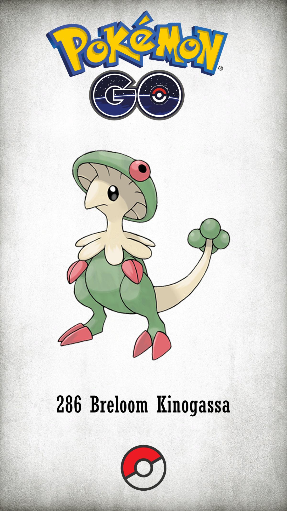286 Character Breloom Kinogassa | Wallpaper