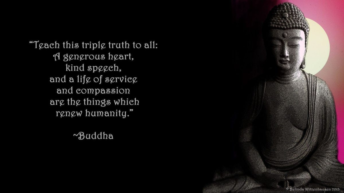 WALLPAPER WITH POSITIVE QUOTE BY LORD BUDDHA: TRIPLE TRUTH FOR ALL …