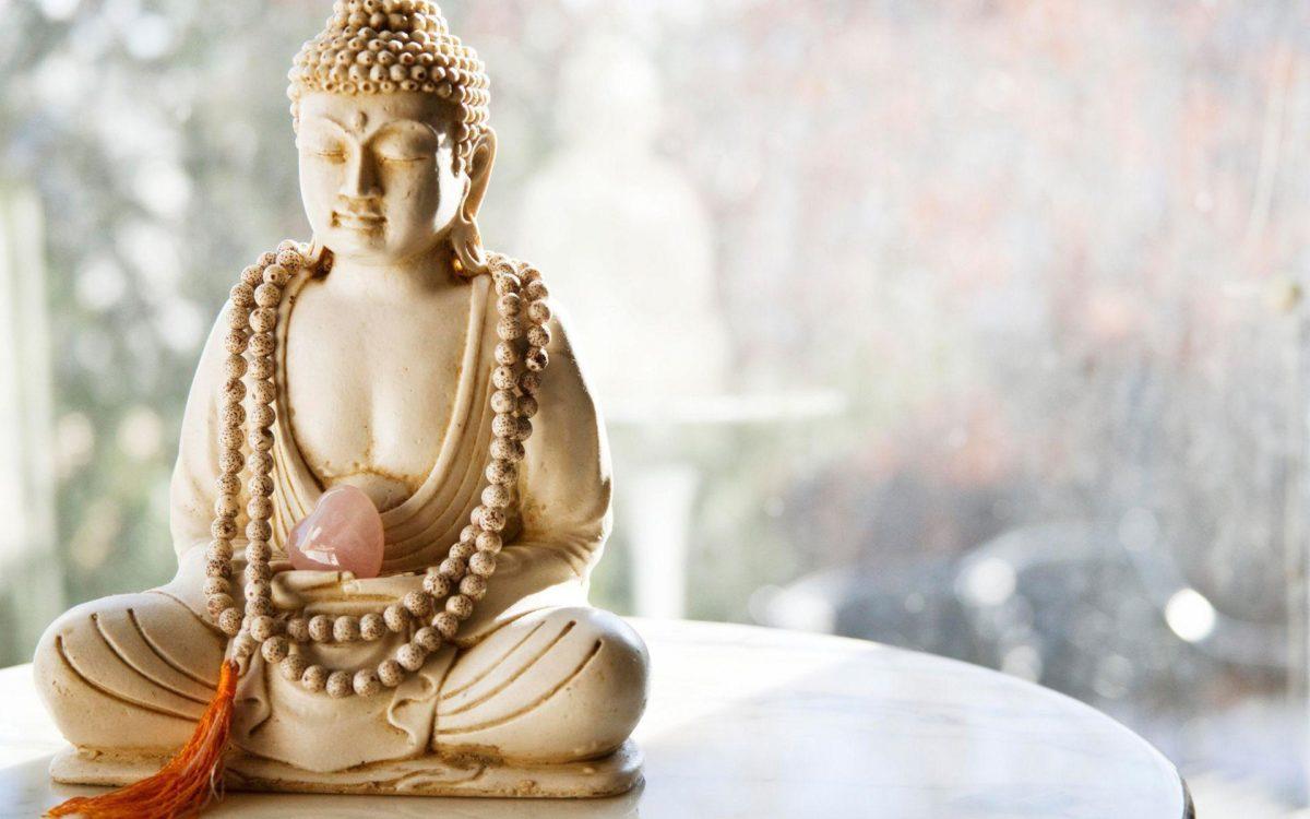 Wallpaper buddha statue, rosary beads, tassel, heart, stone …