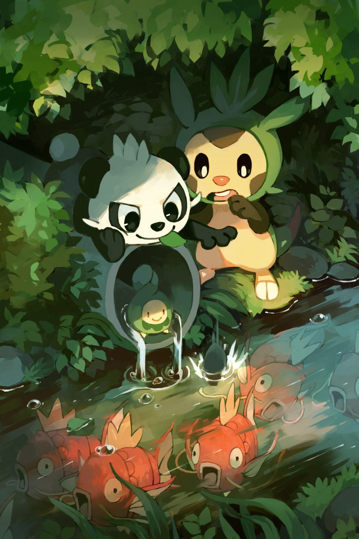 Chespin & Pancham & Budew & Magikarp | pokemon | Pinterest | Pokémon …
