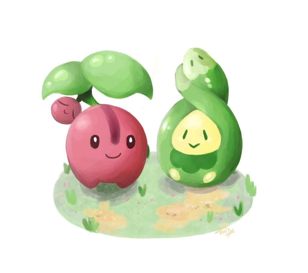 Cherubi and Budew | Pokémon Amino
