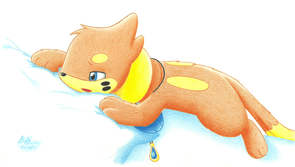 Tired and Sleepy Buizel by BuizelCream on DeviantArt