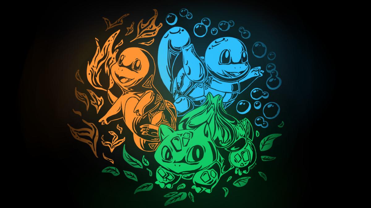 Bulbasaur Charmander Kanto Pkemon Squirtle Video Games – WallDevil