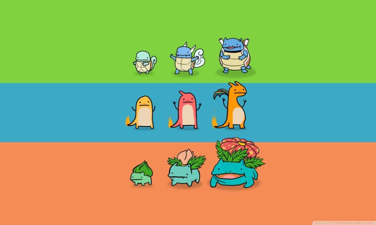 Bulbasaur, Charmander and Squirtle ❤ 4K HD Desktop Wallpaper for …