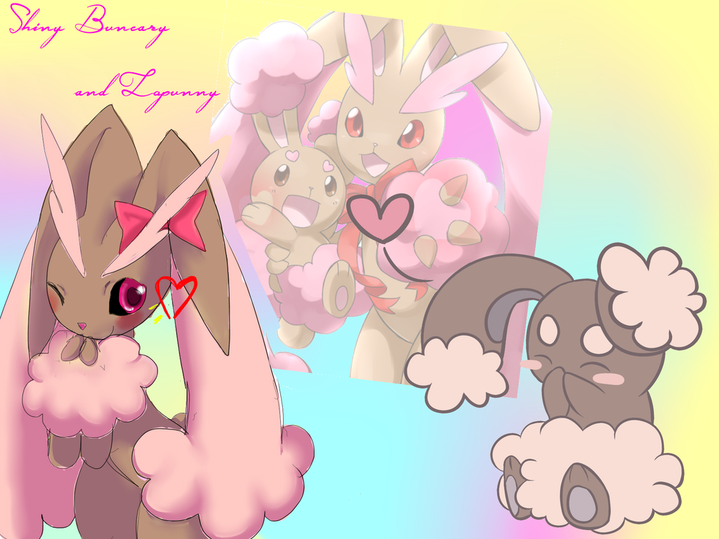 Shiny Buneary Lopunny Wallpaper by xCandiedDepressionx on DeviantArt